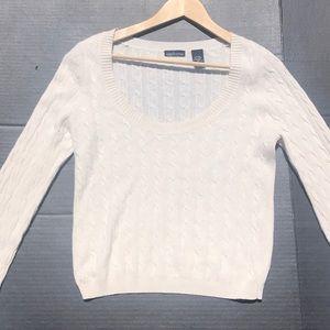 Moda International Silk/Angora Cropped Sweater